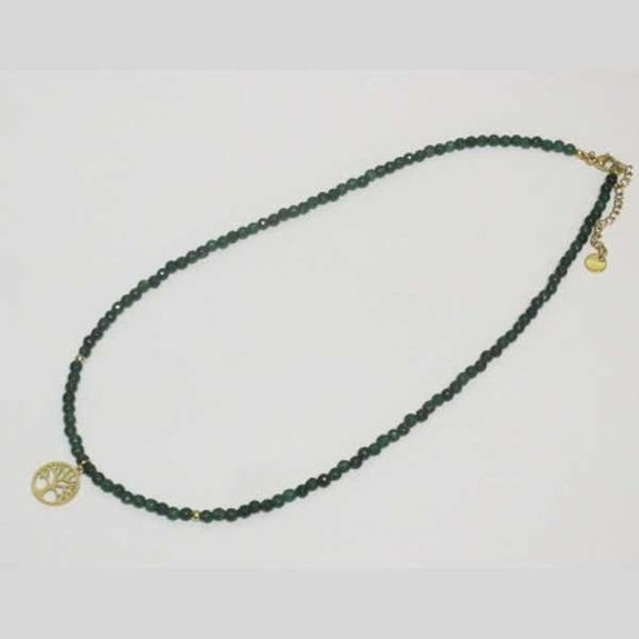 steel stone pearl necklace chain