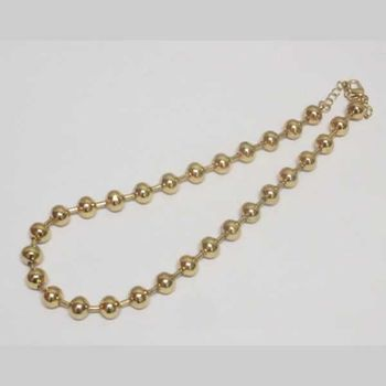 golden ball chain jewelry