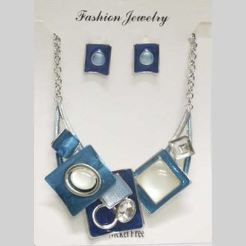 blue modern jewelry at wholesaler