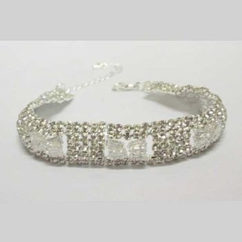 white black crystal bracelet