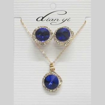 blue crystal costume jewelry