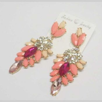 color dangling earrings