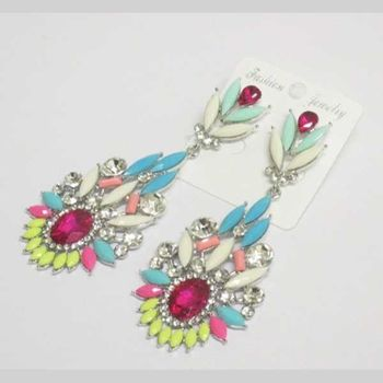 fancy crystal earring jewelry in all colors