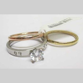 wedding ring with 2 circle rings