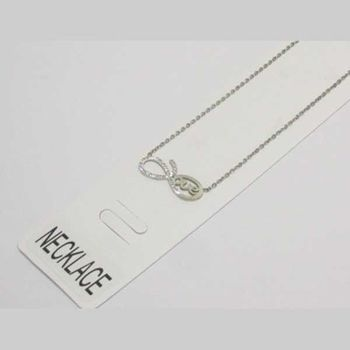 infinity love necklace steel