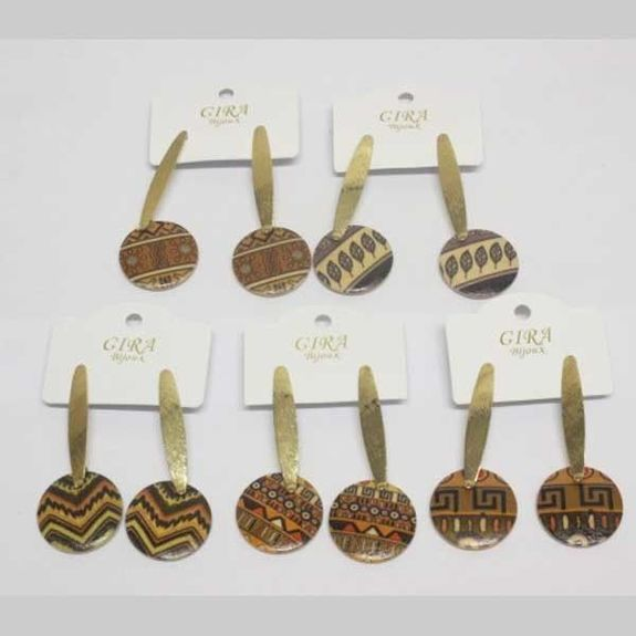 small hanging wooden earring