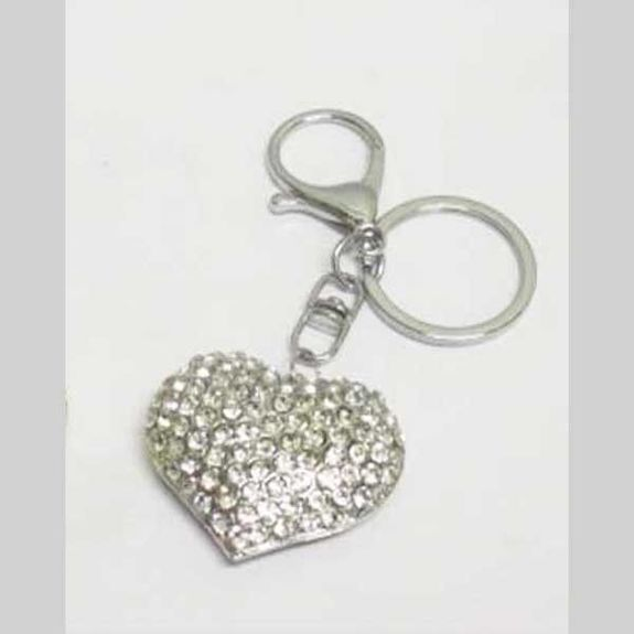 golden and silver heart keychain jewelry