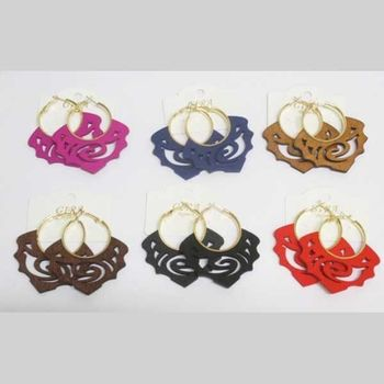 wooden earring in all colors