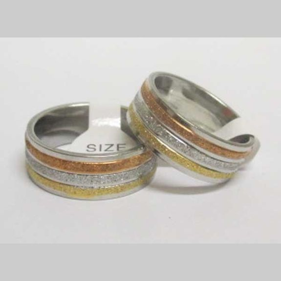 ring 3 colors glitter