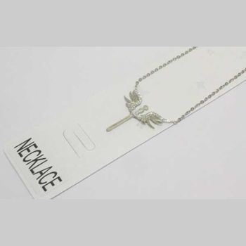 stainless steel winged sword pendant