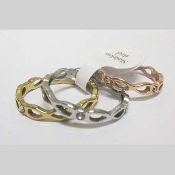 crystal interwoven ring alliance in 3 colors