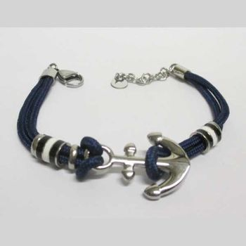 blue anchor men's bracelet jewelry