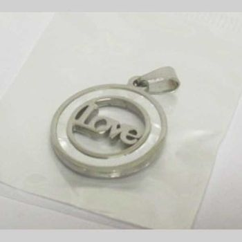love pearl circle pendant