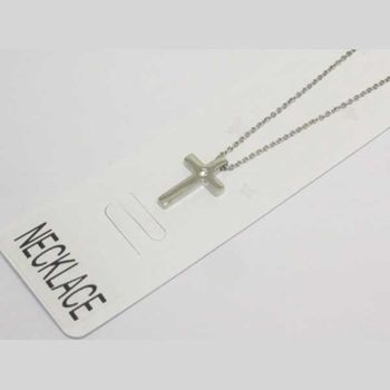cross pendant with crystal in the middle