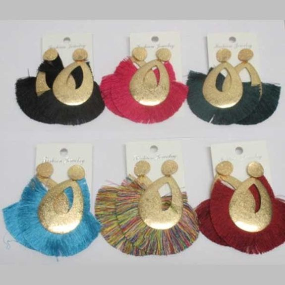 all colors pompom earrings jewelry