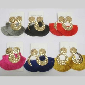 earrings pierced with pompoms