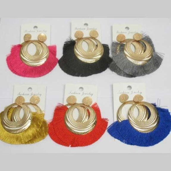 tassel earrings with holes