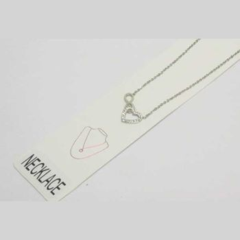 heart chain necklace with infinity