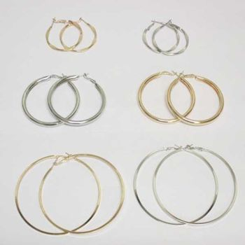 jewelry earrings, all sizes and shapes