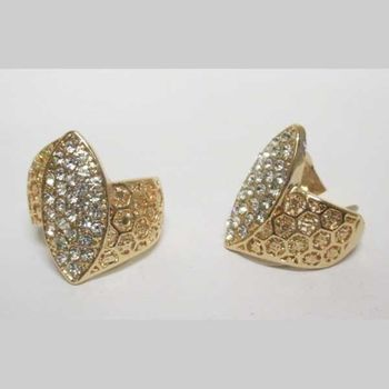 gold crystal diamond ring jewelry