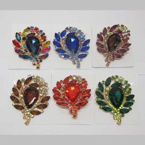 Purchase jewelry crystal flower brooches