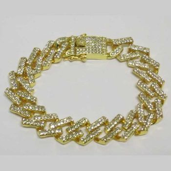 gold ice bracelet chain