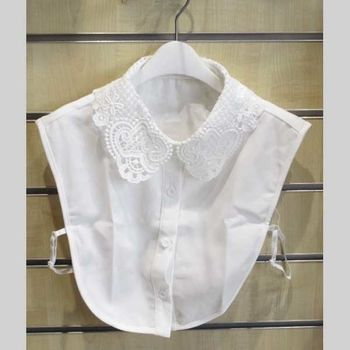 white lace shirt collar
