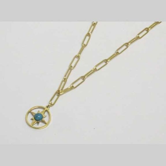 polar star medal necklace stainless steel