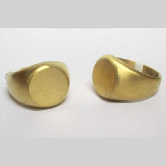round steel ring in gold