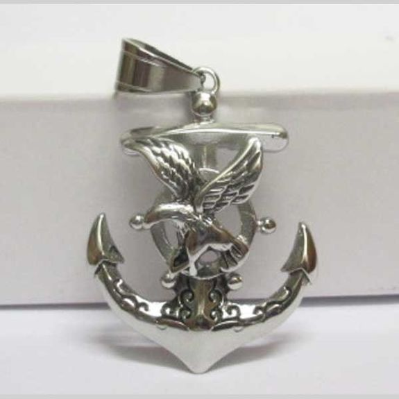 marine eagle anchor pendant
