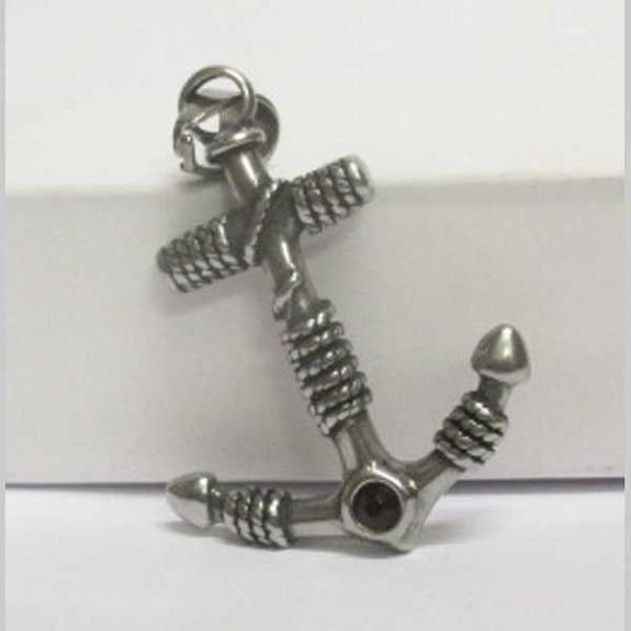 steel knot anchor pendant