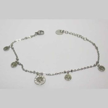 stainless steel tree of life wrist chain
