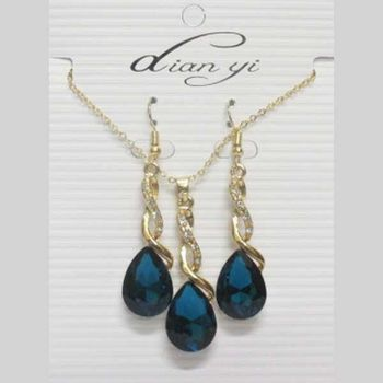 turquoise crystal drop jewelry