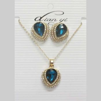 earring and necklace crystal costume jewelry