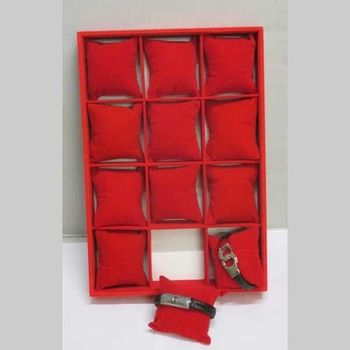 display case in red for jewelry bracelet watch