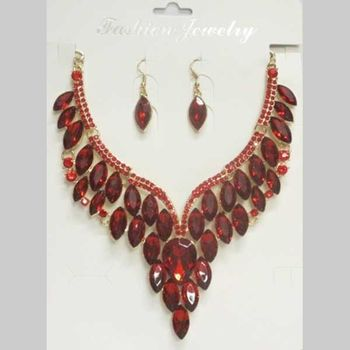 red wedding jewelry set wholesale price
