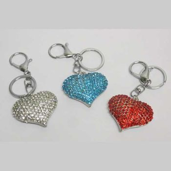 heart jewelry key ring in the colors of France