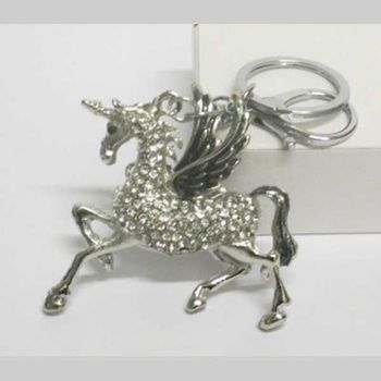 winged horse pegasus keychain jewelry