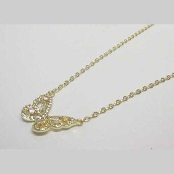 gold rhodium butterfly necklace jewelry