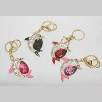 dolphin key ring jewelry of all colors