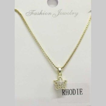 round golden crystal pendant jewelry in rhodium