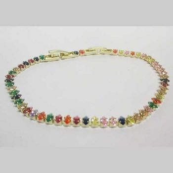 Multicolour zircon woman bracelet