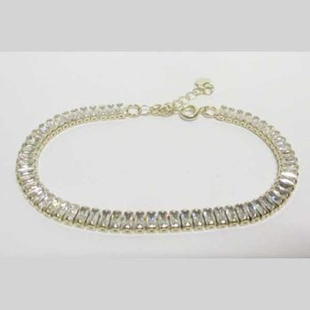 rectangular zircon bracelet