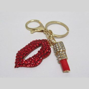 lipstick red mouth bag jewelry