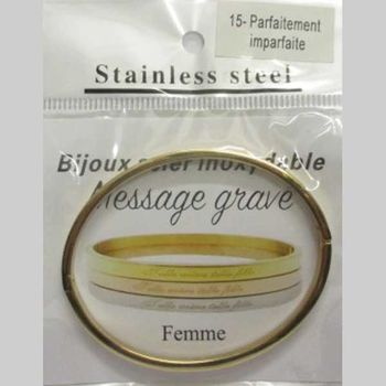Message bracelet Perfectly imperfect