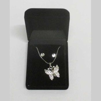 butterfly pendant jewelry in box