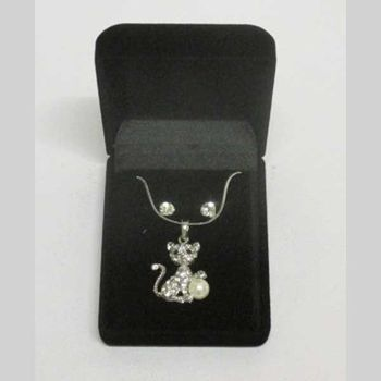 pearl cat pendant jewelry