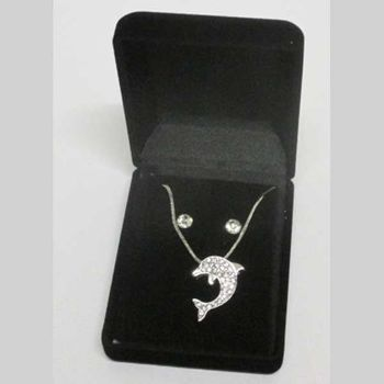 dolphin pendant jewelry in box