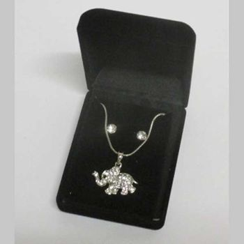elephant pendant jewelry trunk in the air