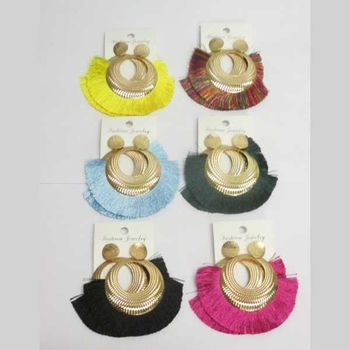 New colors tassel earrings with holes